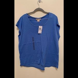Michael Kors Oxford Blue Top Size 1X NWT